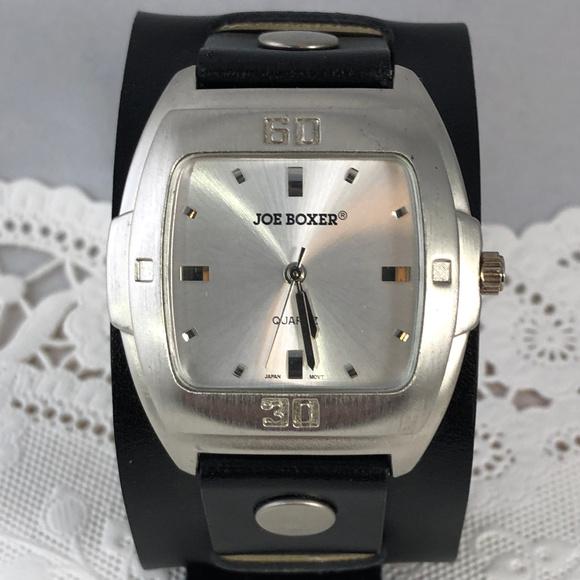 Joe Boxer Other - Vintage Joe Boxer Leather Cuff Bracelet Watch